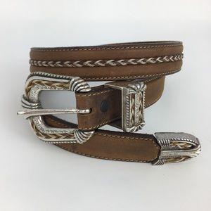 "Tony Lama Accessories - Tony Lama   Braided Leather Belt 32"" Q4"